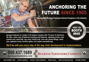 trade show ad example buckeye fasteners